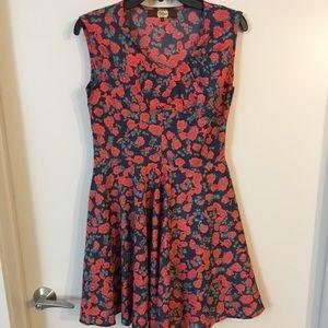 Anthropologie - Eva Franco Floral Dress Sz 6